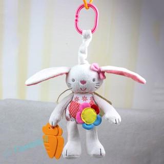 Baby Cartoon Rattles Dolls Teether Bed Stroller Pram Hanging Ring Plush Toy