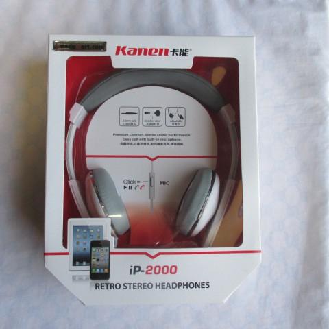 Tai nghe chụp tai cho Iphone Kanen IP2000 (Trắng)