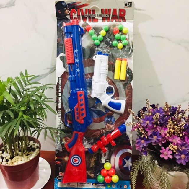 Vĩ đồ chơi 2 SUNG biệt đội MỸ 1 cây lớn 1 cây nhỏ