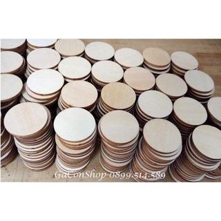Combo -100 miếng gỗ tròn + gỗ vuông (khách sỉ)