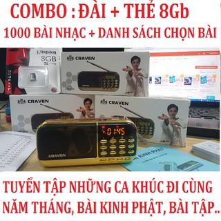 [Quà Tặng] Đài nghe nhạc+ thẻ nhớ 8Gb kingston chính hãng FPT copy sẵn 1000 bài hát chọn lọc có danh sách bài hát đi kèm