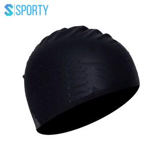 Mũ bơi người lớn, nón bơi người lớn SPORTY SC01 chất liệu silicone ngăn nước