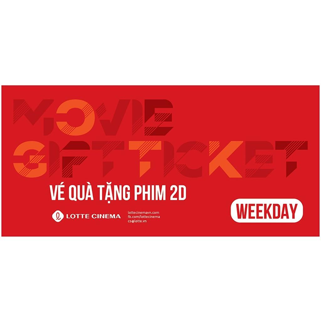 Toàn quốc - [E-voucher] Vé xem phim Lotte Cinema - Movie Gift Weekday