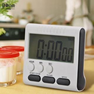 Đồng hồ hẹn giờ nấu ăn đa năng mini màn hình kỹ thuật số LCD có chức năng bấm giờ có từ tính âm báo lớn thumbnail