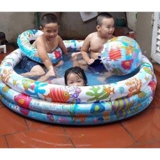 bể bơi 3 chi tiếtcho bé