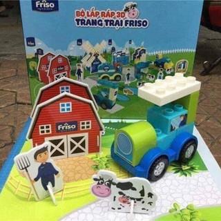 Bộ lắp ráp 3D trang trại Friso – Quà tặng từ Friso
