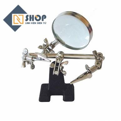 Giá kẹp hàn mạch có kính Lup