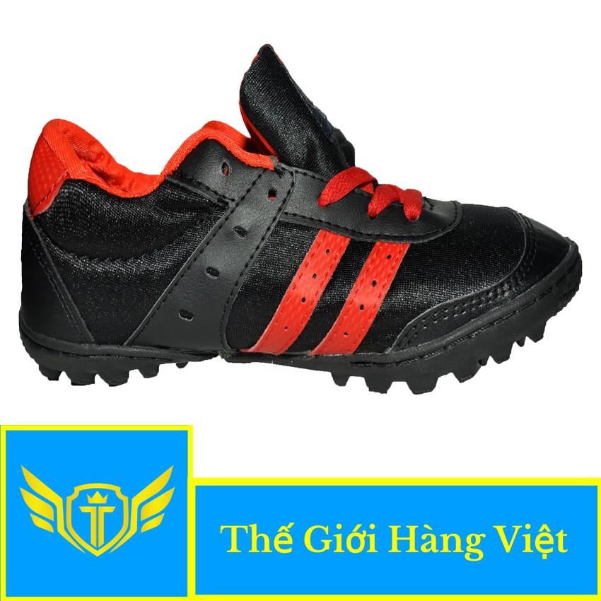 Giày Đá Bóng Sân Cỏ Nhân Tạo 004C (Đen Đỏ)