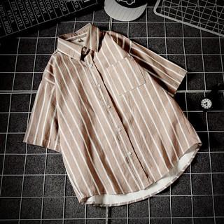 Male sleeveless shirt with horizontal stripes