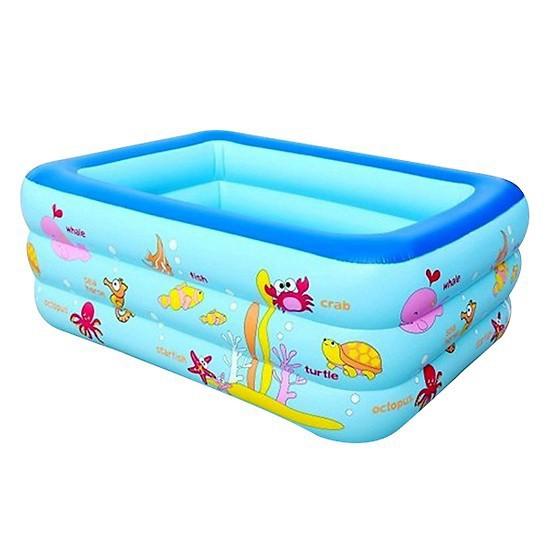 HÀNG ĐẸP – Bể bơi phao bơi 💖𝑭𝑹𝑬𝑬𝑺𝑯𝑰𝑷💖 Bể bơi phao – Loại 1m5 3 tầng ( tặng bộ vá phao) – hàng dày loại 1