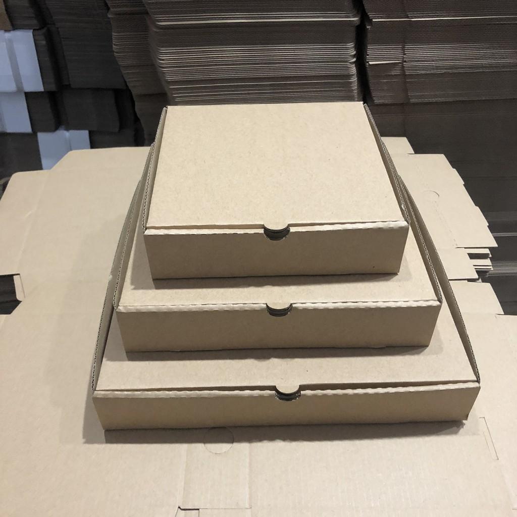 Hộp bánh pizza size 20x20x4cm bộ 20 cái