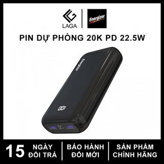 Pin Sạc Dự Phòng Energizer 20000mAh Li-Polymer Power Delivery PD 22.5W - UE20011PQ