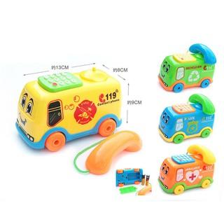 ❦mmakid❦☆2017 Baby Toys Music Cartoon Bus Phone Educational Developmental Kids Toy Gift