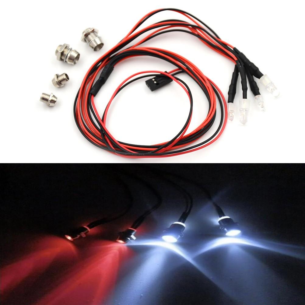 Specialhour RC Car 4pcs RC Model Drift Car LED Night Light 5mm & 3mm Headlamps RC Parts