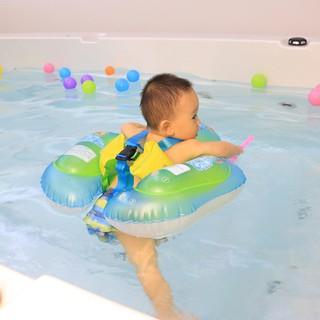 ★Lp★Cartoon Baby Swimming Ring Anti Rollover Portable Pool Float Swim Protector