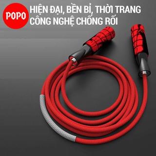 Dây nhảy cao cấp nhảy dây giảm mỡ bụng POPO XS005 dây chống rối, chống mài mòn thumbnail