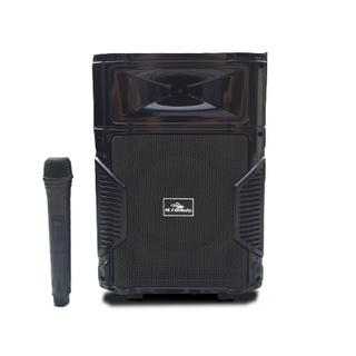 Tặng Kèm 1 Micro Không Dây Hát Cực Hay-Loa kéo Bluetooth Karaoke Di Động Kiomic K108 Thùng Gỗ