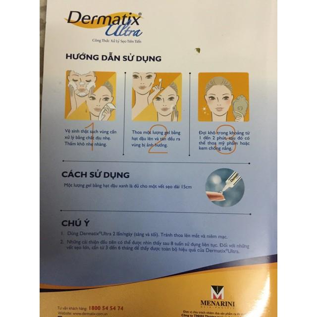 Kem Trị Sẹo Lồi, Sẹo Phẫu Thuật, Sẹo Thâm Do Mụn, Rạn Da. Dermatix Ultra Advanced Scar Formula Gel