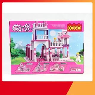 [KA] Bộ ghép hình lâu đài công chúa 254 chi tiết cho bé AC111111