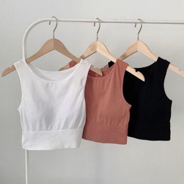 Áo bra, áo croptop ba lỗ có mút ngực cực xinh