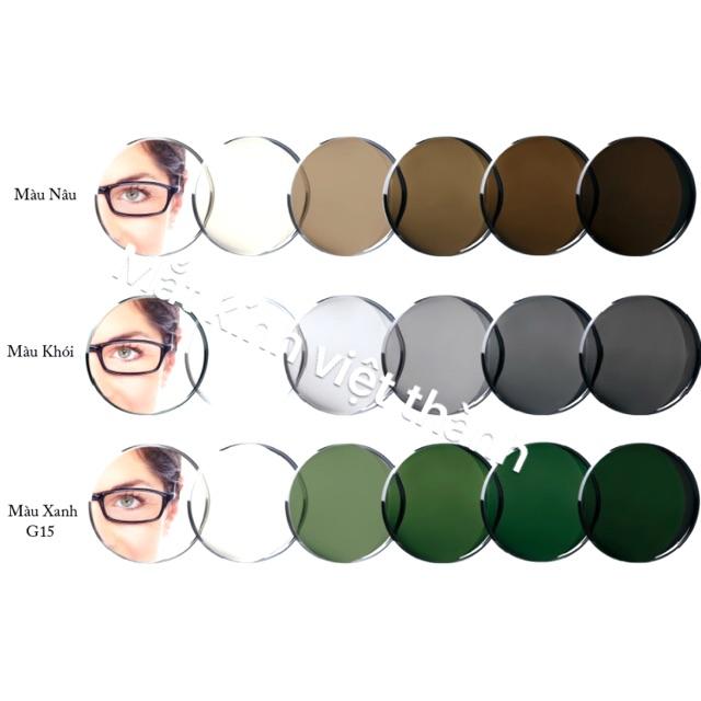 Tròng kính cận đổi màu nhập khẩu nhật bản