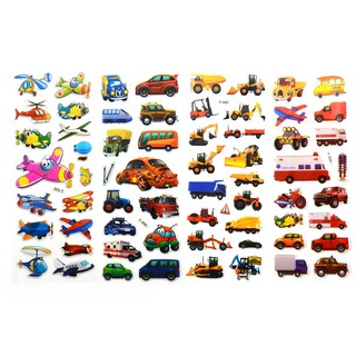 SUN11❤ 5pcs Bubble Stickers 3D Cartoon KIds ClassicToys Sticker School Rewa