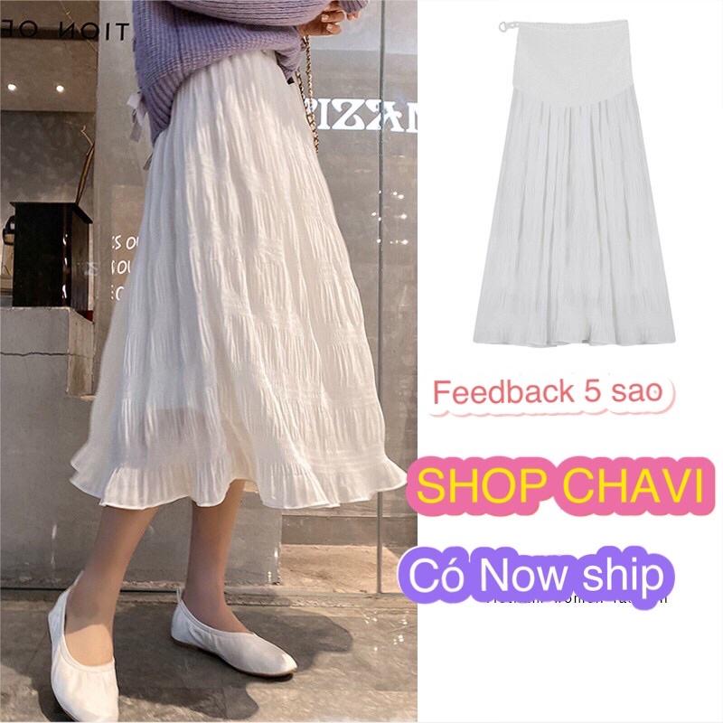 [Mã SRJULY1215 giảm 20K đơn 50K] HOT FREE SHIP - Chân váy voan nhăn Hàn quốc chất đẹp xinh xinh
