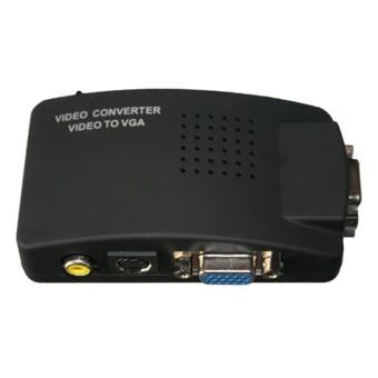 Hộp chuyển đổi tín hiệu AV Svideo to VGA (Đen) -DC540