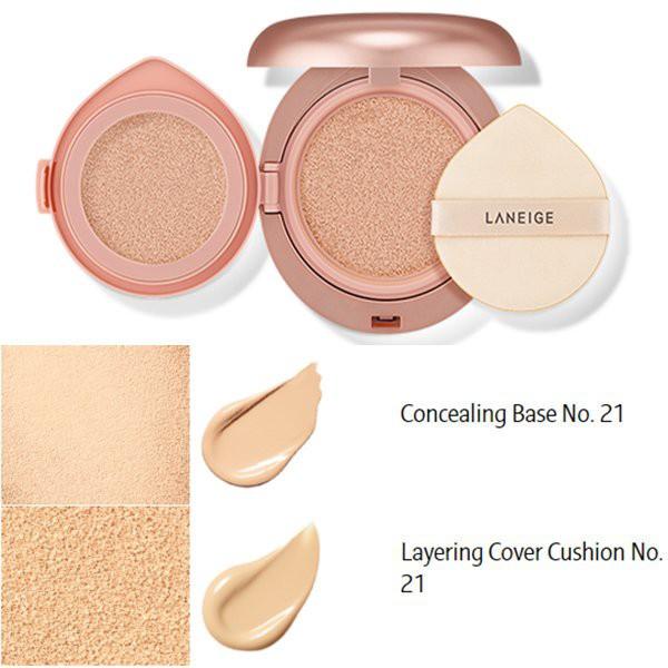 Phấn nước Laneige layering cover cushion & concealing base no.21 ...