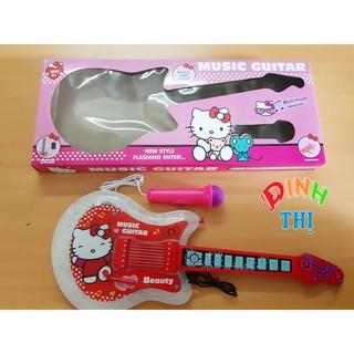 Đàn Hello Kitty ( NHẠC + MIC + Dây ĐEO)