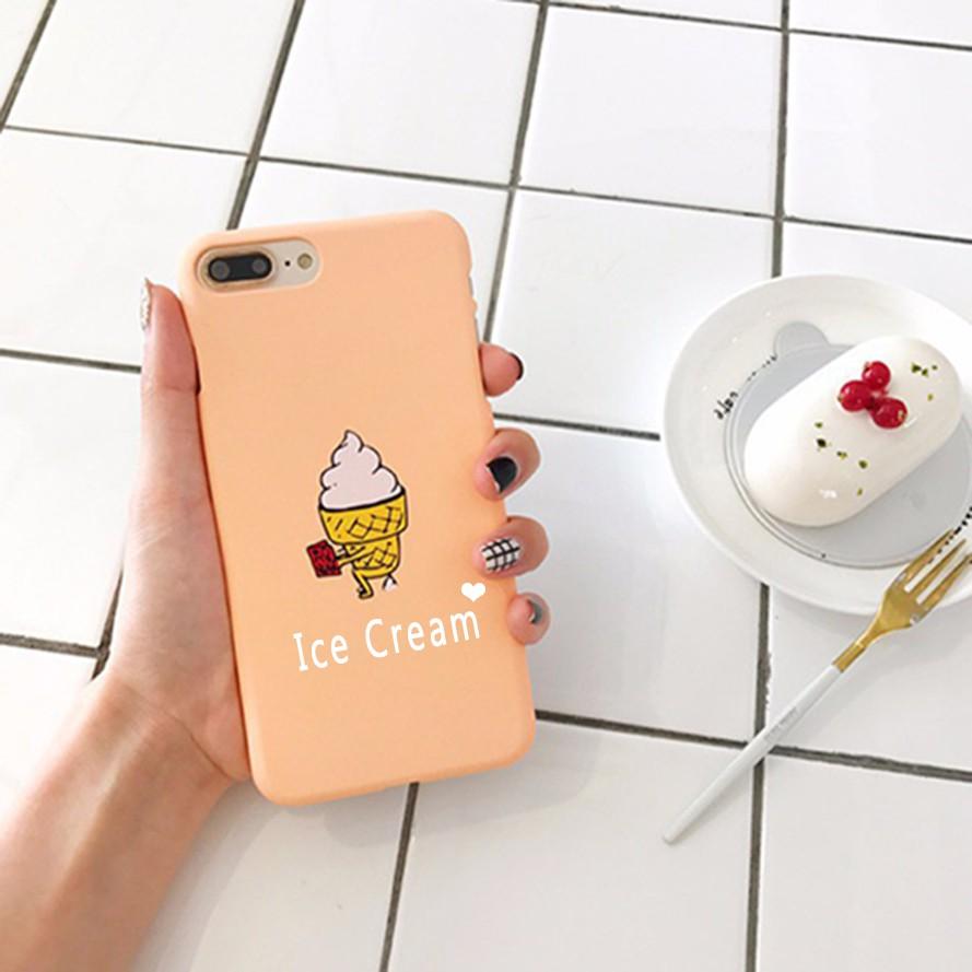 Ốp lưng Kem & Dưa hấu - Ốp Iphone ( In tên theo yêu cầu)