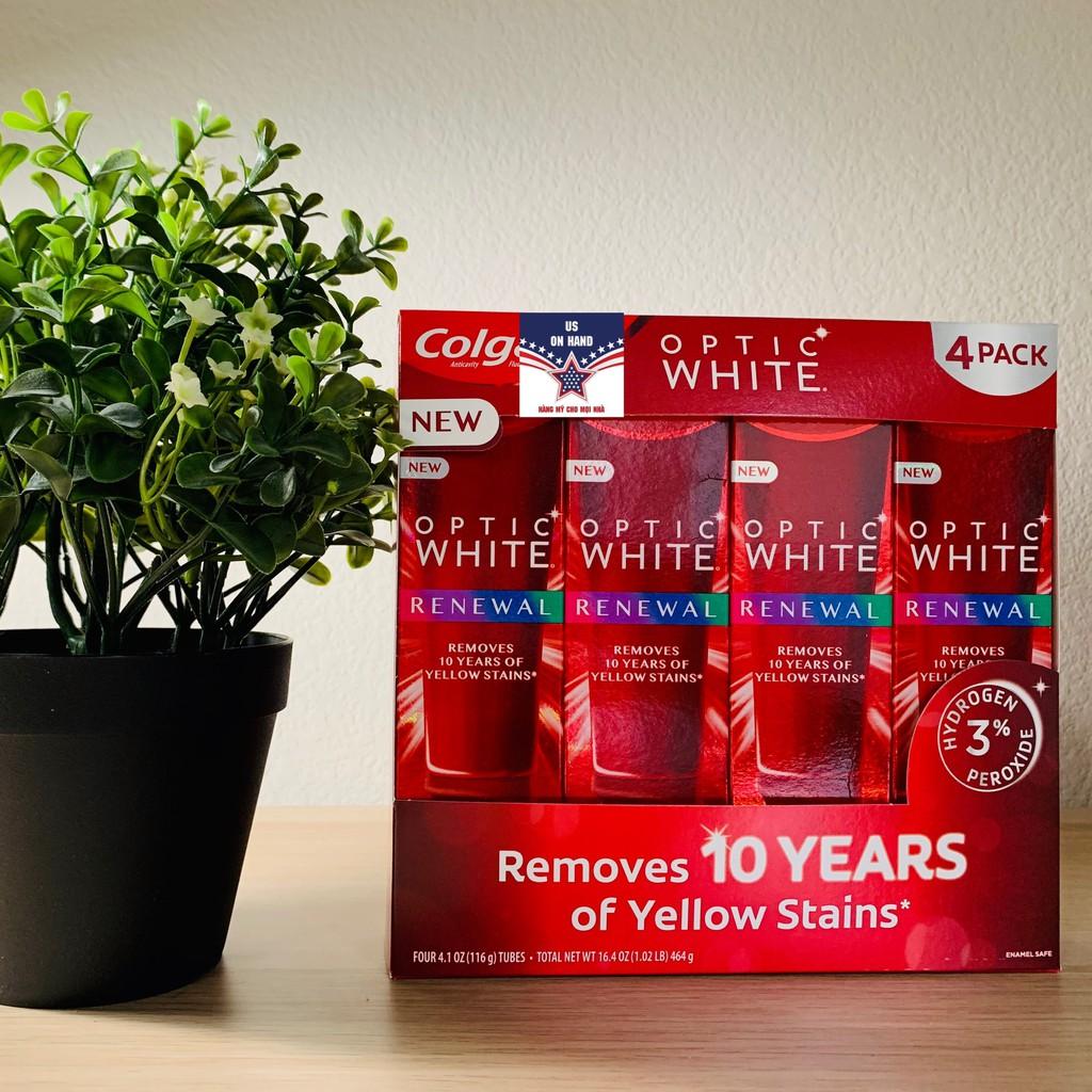 [Hàng Mới] Kem đánh răng TRẮNG RĂNG Colgate Optic White Renewal (116g) - HÀNG MỸ