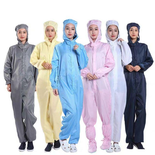quần áo phòng sạch vải tĩnh điện bộ rời/ liền thân | Shopee Việt Nam