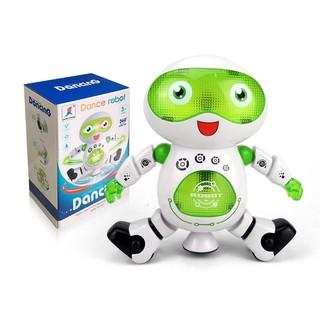 Robot Đồ Chơi Phát Nhạc Xoay 360 Độ