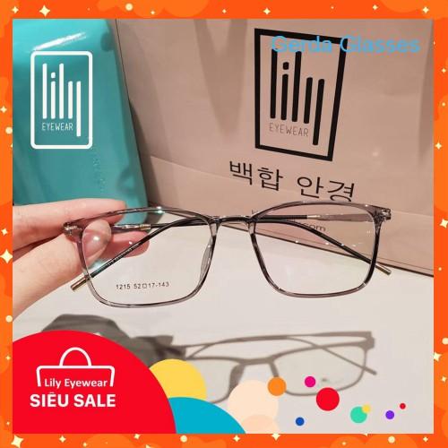 Gọng Kính Cận Vuông Mảnh L1215 - Gọng Kính Mắt Thời Trang Hàn Quốc
