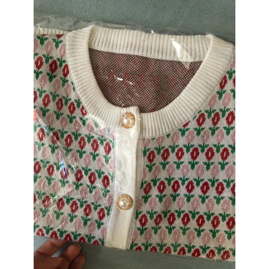Mặc gì đẹp: Đẹp hơn với  Áo Croptop Dệt Kim Tay Ngắn Cổ Tròn Phong Cách Hàn Quốc Cho Nữ