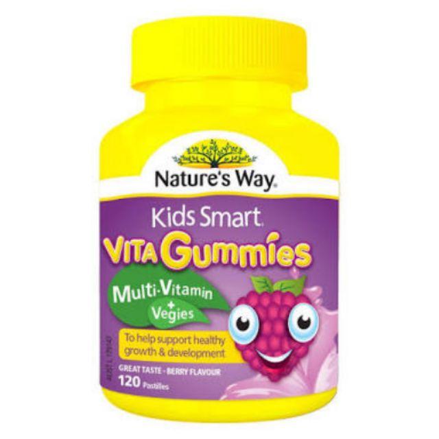 Vitamin tổng hợp kèm rau củ cho bé dạng kẹo gum - hộp 60 viên - hàng Úc