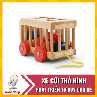 Xe thả hình khối – đồ chơi giáo dục an toàn cho bé