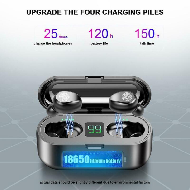 Tai nghe bluetooth AMOI F9 kiêm sạc dự phòng nút cảm ứng Bluetooth 5.0 Pin 280 giờ sạc dự phòng 2020