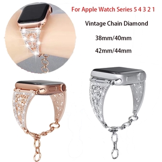 Dây Đeo Đồng Hồ Đính Đá Lấp Lánh Cho Apple Watch 42mm 44mm 38mm 40mm Iwatch Series 6 SE 5 4 3 2 1
