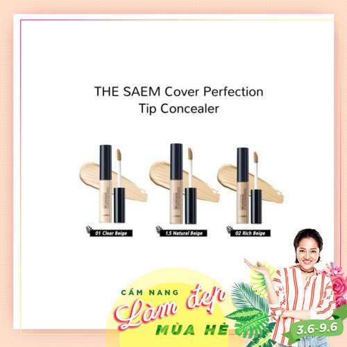 Che Khuyết Điểm The Saem Cover Perfection Tip Concealer - 2950753 , 382522265 , 322_382522265 , 125000 , Che-Khuyet-Diem-The-Saem-Cover-Perfection-Tip-Concealer-322_382522265 , shopee.vn , Che Khuyết Điểm The Saem Cover Perfection Tip Concealer