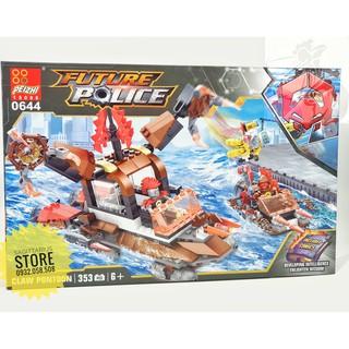 Lego Peizhi 0644 Lắp Ráp Tàu Chiến Future Police ( 353 Mảnh )