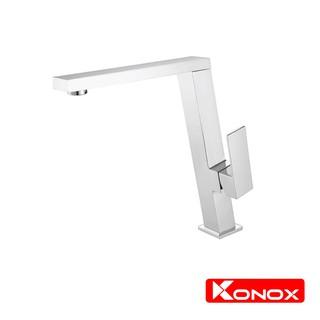 Vòi rửa bát xoay 360 độ KONOX KN1209 hợp kim đồng 61% tiêu chuẩn Châu Âu CW617N, bề mặt xử lý công nghệ PVD Chrome 5 lớp