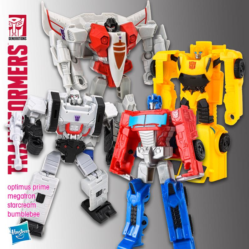 ❇✹✉Kids Treasure Transformers Storm series Optimus Prime Bumblebee Megatron Red Spider boy Model toys