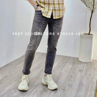quần jean nam sám trơn huyền thoại ôm nhẹ có size đại