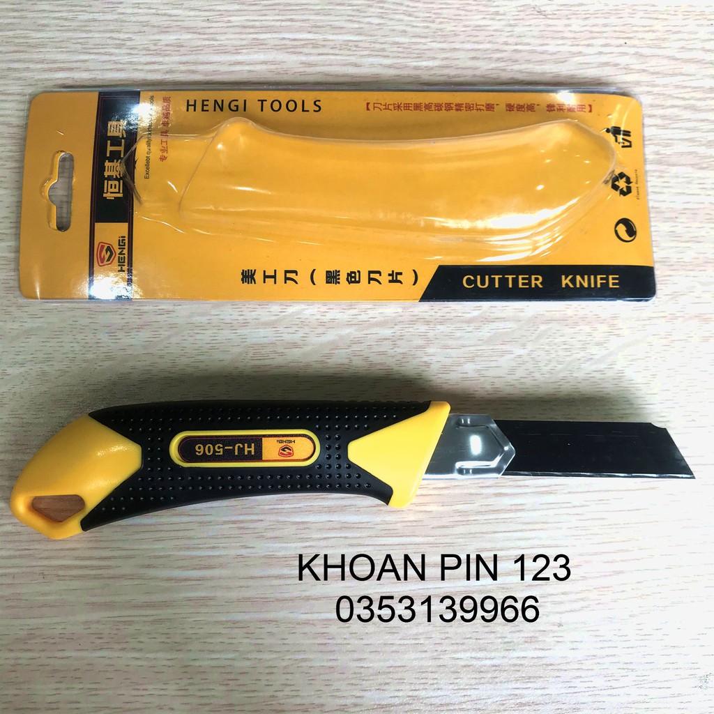 Dao rọc giấy Hengi  HJ-506 loại to, lưỡi dao 18mm tiện lợi