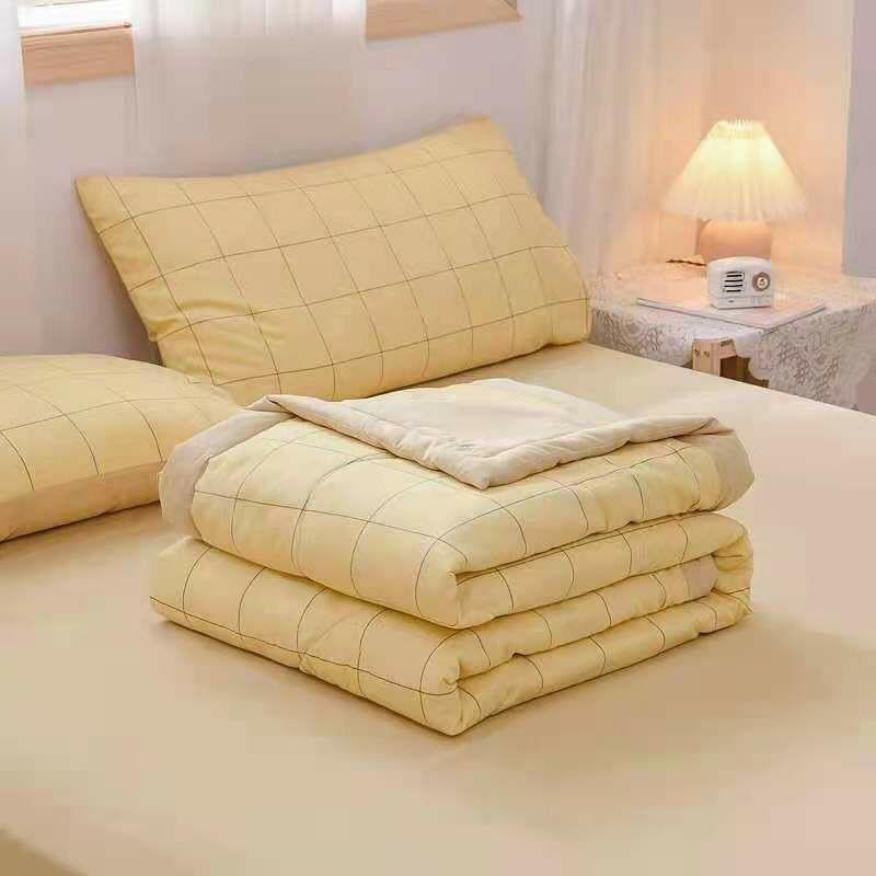 ( Hàng Nhập Khẩu ) Bộ Chăn Ga Gối Cotton Đũi Thô , Chất Vải Mềm Mịn - Mẫu Kẻ Hot