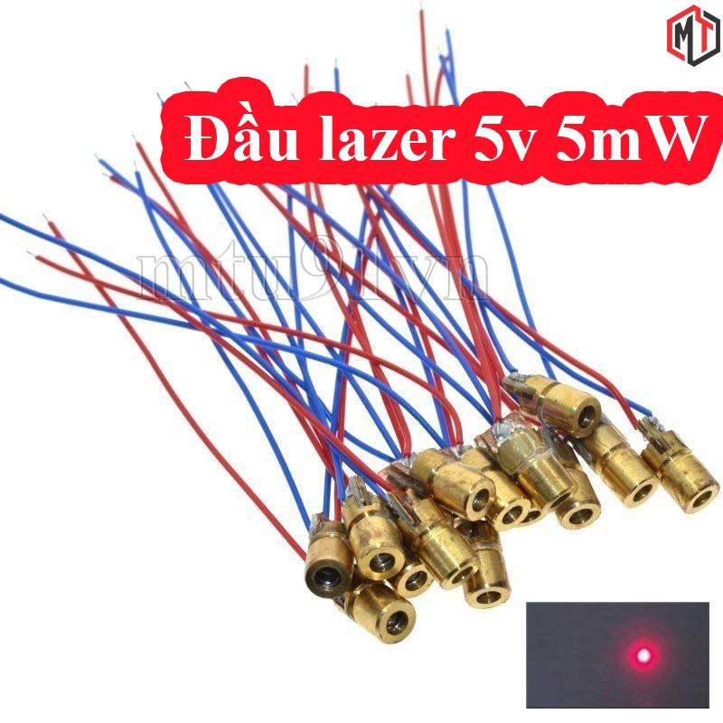 Đầu phát tia laze 5mW - Module diode Laser sáng đỏ hội tụ 5V - 650nm