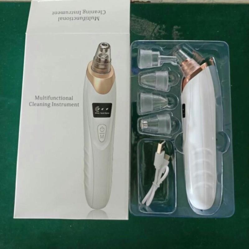Máy Hút Mụn⚡Máy Hút Mụn Đầu Đen⚡màn hình led, máy hút mụn sạc pin 5 đầu hút SIÊU MẠNH