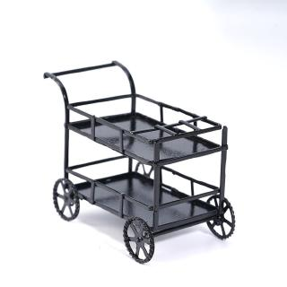 1:12 Doll House Simulation Model Black Metal Dining Car